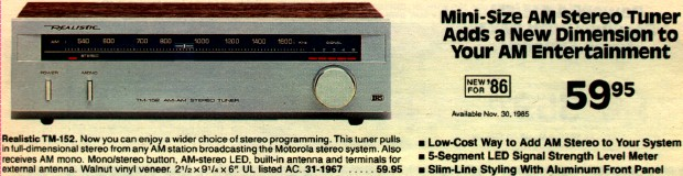 AM Stereo-Equipped Stereo Systems and Tuners